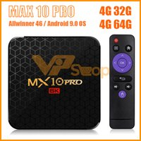 MX10 Pro 4 GB DDR3 32 GB 64 GB eMMC Android 9.0 CAIXA de TV Allwinner H6 Quad Núcleo 6 K Google Player Inteligente tvbox Set Top Box