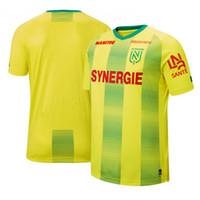 Ligue 1 FC Nantes 19 20 Ev Futbol Formaları 2019 2020 FC Nantes Maillot De Ayak Boschilia Rongier Futbol Gömlek Koşu Formaları