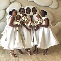 새로운 컬렉션 ASO EBI 2020 명람의 드레스 사과 빅 활 섹시한 백 하녀의 명예 파티 가운의 가운데 라인 신부 드레스