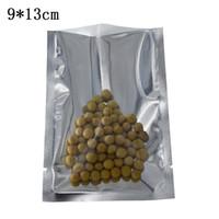 200 Parça 9x13 cm Temizle Alüminyum Folyo Üstü Açık Çanta Isı Mühür Saydam Mylar Kurutulmuş Gıda Somun Şeker Paket Kese Vakum Saklama Torbaları