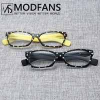 Las mujeres gafas de lectura de moda del diseño del punto del ojo de gato alto Quanlity resina de la vendimia de las lentes de presbicia cristal de dioptrías 1 1.5 2 2.5 3