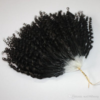 BWHAIR CE certificou micro anel 400s / lote kinky curly loop extensões de cabelo cor natural