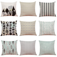 Nordic Style Home Linen Cushion Cover Home Office Sofa Squar...
