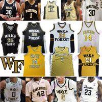 2020 Пользовательской Wake Forest Demon диаконы баскетбол Джерси NCAA College Тим Данкан Чилдресс Оливье Сарр Chaundee Браун Andrien Белый Муций
