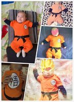 Dragon Ball Baby Macacão Newborn Bebê Meninos Roupas Filho Goku Criança Jumpsuit Bebes Bebes Costumes de Halloween para Bebé Menina Roupas