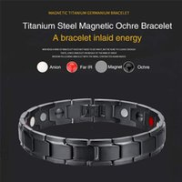 Therapeutic Energy Healing Bracelet Stainless Steel Magnetic...
