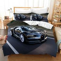 Supercar 3D Uyku Seti nevresim Nevresim Bugatti yarış Araba Yorgan Yatak Takımları Yatak Örtüleri Nevresim Takımı (NO Levha)