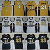 Wake Forest Demon Diakone College Basketball Trikots Tim 21 Duncan Chris 3 Paul Hemden Günstige University Stitched Basketball Jersey S-XXL