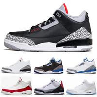 2021 أعلى 3 أحذية رجالي كرة السلة 3 ثانية jth nrg الأسود الأسمنت النقي الأبيض الرجال النساء أحذية رياضية الحجم 7 - 13 مع مربع
