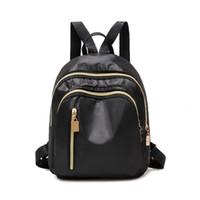 """WOMENS BRAND BAG LOUIS""""VITTON DESIGNER Bookbag Backpack Bag Student Zipper Solid Designer- Nylon Waterproof Black Durable Kids Small S"""