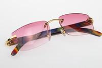 Hot New pavão Madeira 3524012 sem aro dos óculos de sol grátis HOT Unisex designer de óculos de sol de madeira rosa Lens