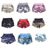 Niñas sirena lentejuelas pantalones cortos de color caramelo arco Chlid Shorts moda Mini Trouseres caliente verano ropa para el hogar 25to E1