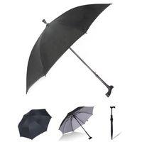 Koltuk değneği kaymaz yaşlı şemsiye uzun kolu UV koruma rüzgar geçirmez şemsiye kadın erkek güneşli yağmurlu şemsiye özelleştirilmiş hediye DBC DH1000
