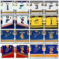 St. Louis Blues 1 GLENN HALL 1967 2 AL Macinni 3 AL ARBOR 4 NOEL PICARD 5 BOB PLAGER Vintage Hockey Jersey cucita
