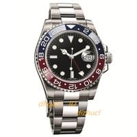 2020 новых мужские часы Базель красный синий 40мм автоподзаводом Механические часы из нержавеющей стали Sapphire Montre люксусный