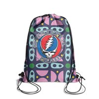 Grateful Dead Steal Your FaceFashion zaino con cintura a sacco, design pop miglior pacchetto di corde riutilizzabili, adatto per lo sport