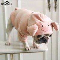 HSWLL Printemps et Automnes New Pig Pull Pig années Creative Toutous vêtements Cat petit chien bouledogue français Y200330
