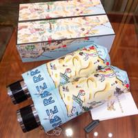 نمط أزياء كلاسيكية زهرة الكاميليا شعار مظلة للنساء 3 أضعاف مظلة فاخرة مع علبة هدية وحقيبة مظلة المطر VIP هدية