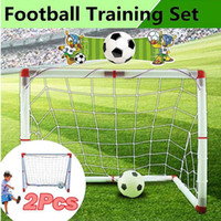 1pcs 126x45x71cm Kids Mini Football Gate Goal Post Net Ball ...