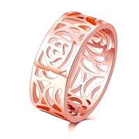 Rose Banhado A Ouro 925 Sterling Silver Ring Sparkling Bow Europeu Pandora Estilo Jóias Charm Anel Presente