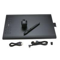Boyama Şarj edilebilir Kalem Tutucu Yazma Pads ile Profesyonel Grafik Çizim Tablet Mikro USB İmza Dijital Tablet Kurulu 1060PLUS