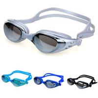 2019 espelhado óculos de natação Silicone Seal natação óculos Mergulho óculos de proteção UV Anti-fog Anti-estilhaçamento Waterproof