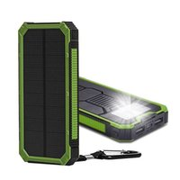 LED와 20000mAh 소설 태양 전원 은행 울트라 얇은 방수 태양 광 발전 은행 2A 출력 태양되는 PowerBank 조명