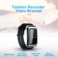 HD 1080P inteligente pulsera de mini cámara 8gb 16gb 32gb usable SmartBand cámara de vídeo Digial grabadora de voz reloj en caja al por menor