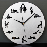 Personality Sex Wall Clock Sex Position Clock Novelty Wall H...
