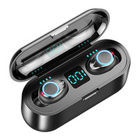 Heiße Selling F9 Mini Wireless Headset Bluetooth 5.0 TWS Headset HIFI In-Ear-Sport-laufende Headset (für Iphone) Samsung Huawei