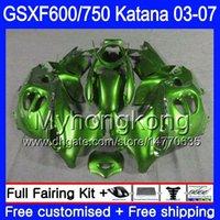 GSXF-600 för Suzuki Katana GSXF 750 600 GSXF600 03 04 05 06 07 Ljusgrön Hot 293HM.68 GSX 750F GSXF750 2003 2004 2005 2006 2007 FAIRING