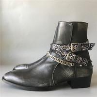 حار بيع جودة الصورة الحقيقية اليدوية أسود a r هاري slp الرجعية خمر جلد البقر حقيقية الشريط مشبك حزام الفاخرة اليدوية والأحذية