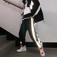 Herrenhose Herbst Männer Mode Lässige Jogginghosen Mann Streetwear Lose Hip Hop Reflektierende Männliche Trend Wild Kleidung M-2XL