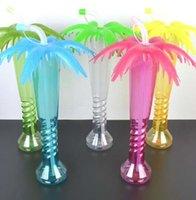 Кокосовая пальма двор чашка Гавайский пляж дети партия чашка крышка Соломенная крышка пляжная вечеринка декор бутылка LJJK2210