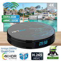 Smart Android TV Box HK1 Plus Amlogic S905X2 4 GB 32 GB Dual Wifi 2,4 / 5,8 G BT 4,0 IPTV Set Top Box