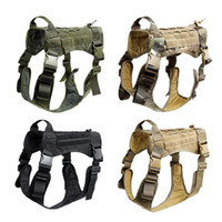 1000D Nylon Tactical Serviço Dog Modular Harness K9 Trabalho Cannie Hunting Molle Vest With No Puxe Lei clipe dianteiro
