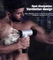 تدليك الأنسجة العضلية الليفي العضلي العلاج الطبيعي صك كتم شاشة تعمل باللمس لفافة بندقية بندقية تدليك الاسترخاء الكهربائية الاعوجاج السينمائي أثر بندقية ديب