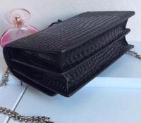 real leather handbags womens new designer saint Crocodile Pa...