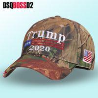 DSQBOSSD2 Nuovo Donald Trump 2020 Cap Camouflage Caps USA Bandiera Baseball Keep America Grande cappello di Snapback ricamo Stella Lettera Camo Army Cap