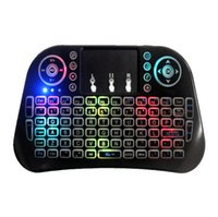 New I10 Wireless-Touch-Tastatur Mini Lade Fliegen Mute Stille Stille Illuminated Tri-Color-Tastatur für Notebook Laptop Mac Desktop-TV