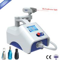 Kargo ücretsiz Taşınabilir ND. YAG kaş temizleme lazer dövme kaldırma 1064nm 532nm 1320 siyah bebek cilt beyaz lazer makinesi için güzellik salonu