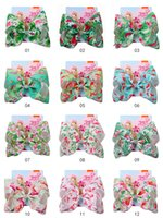 JOJO SIWA Archi Mermaid Flamingo Big Hair Bow Barrettes Accessori per capelli colorati con cristallo moda bella arco bambini bambini hairband