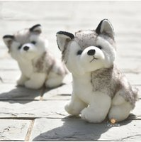 10- 20cm High quality plush Cute Simulation Husky Simulation ...