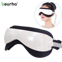 Occhio alle vibrazioni Beurha DC Massager elettrico Machine Music di pressione d'aria magnetica a infrarossi Riscaldamento Massaggi Occhiali Occhi Cura T191029 dispositivo