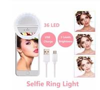 Bigbang Embellissez peau LED selfie Annulaire Avec USB Charge Flash intégré Photographie Lampe lumineux pour iPhone Samsung Téléphone sur le clip