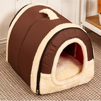 Pet House Igloo Foldable Warm Padded Winter Bed House Basket...
