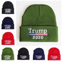 Donald Wiederwahl Beanie Trump 2020 Mützen stricken Winter Skully Caps Halten Sie Amerika Große Stickerei USA Flagge Lässige Kleidung Mütze Beanie Skimütze AZYQ6166