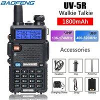 BaoFeng 워키토키 UV-5R UV5R 듀얼-밴드 136-174Mhz400-520Mhz1800mAH 건전지를 가진 양용 라디오 송수신기 미국 주식