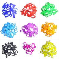 100pcs التي الملونة البلاستيك مفتاح السلاسل الأمتعة رقم الكلمات تسميات سلاسل المفاتيح مع بطاقات اسم لكثير من الاستخدامات -Bunches من مفاتيح الأمتعة