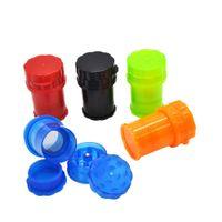 Honeypuff med container 4 teile kunststoffschleifer sichere twist lock system pfefferschleifer sichere drehschloss tabak rauchen herb muller